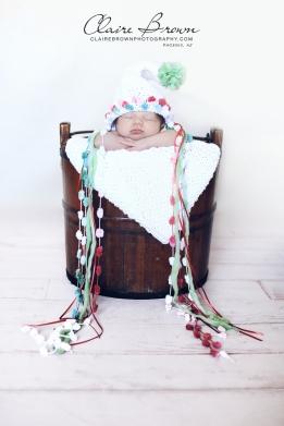 Christmas Pixie Bonnet